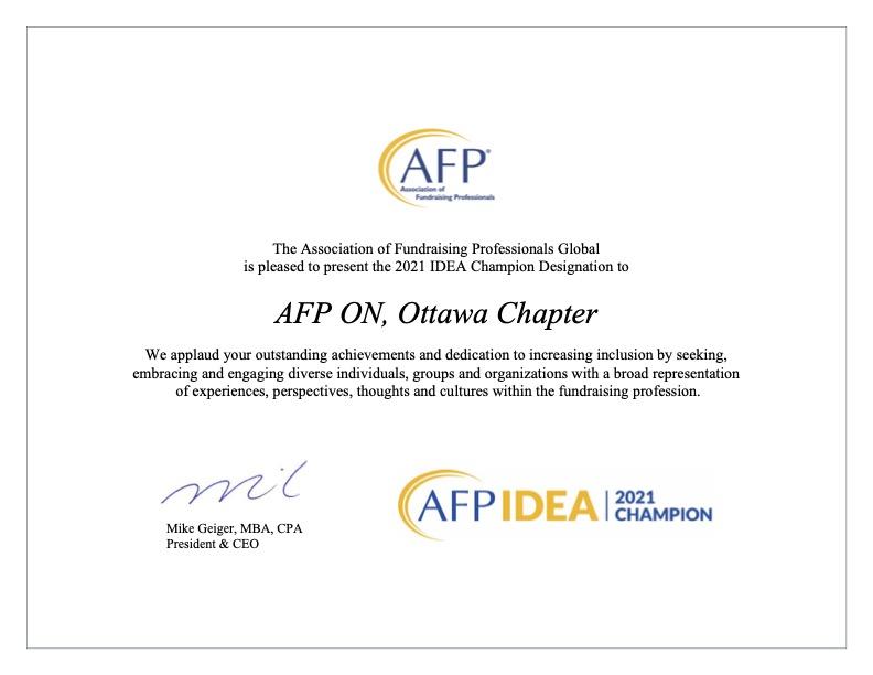 AFP ON, Ottawa Chapter